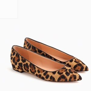Brand New Pointed Toe Flats in Leopard Calf Hair